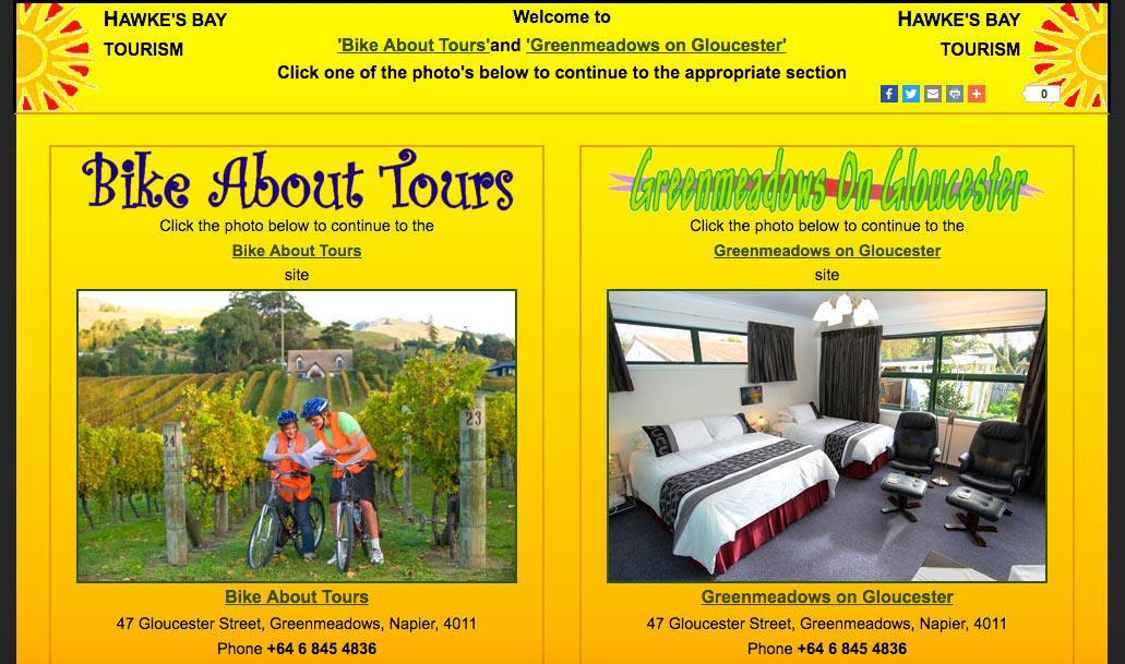 The Bike About Tours Original Homepage