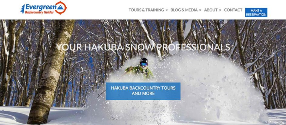 Evergreen Backcountry Guides Homepage
