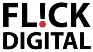 flick digital white rectangle logo
