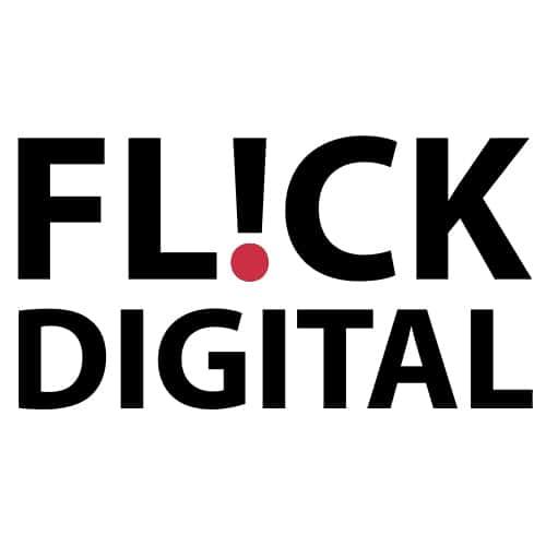 flick digital white square logo